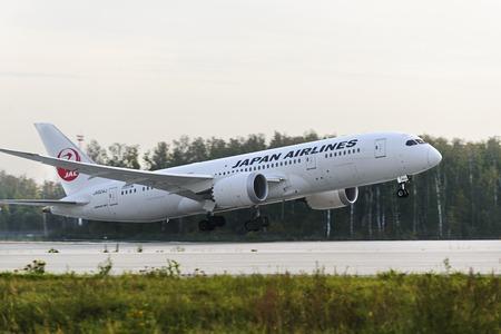 Boeing 787 Dreamliner taking off