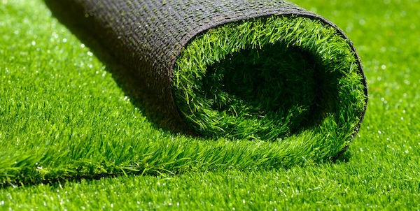 artificial rolled green grass - plastic