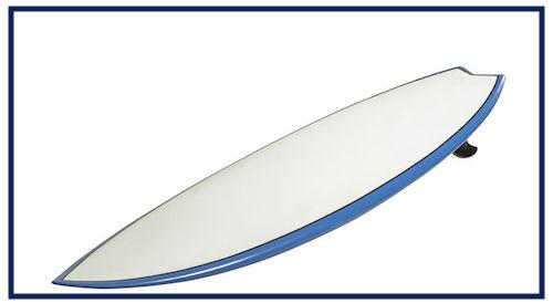 modern plastic surfboard