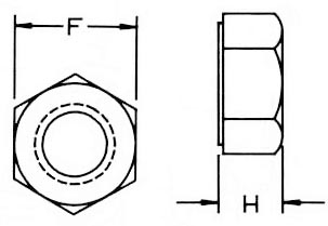 Nylon Special Hex Nuts Dimensions