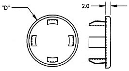 Metric Hole Plugs Dimensions
