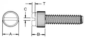 Metric Econ Gde Thumb Screw Dimensions