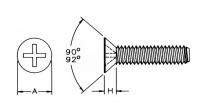Metric Phil Flat Mach Screw Dimensions