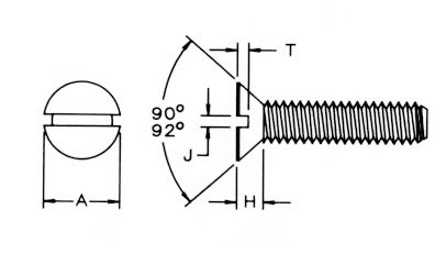 Metric Slt Flat Mach Screw Dimensions
