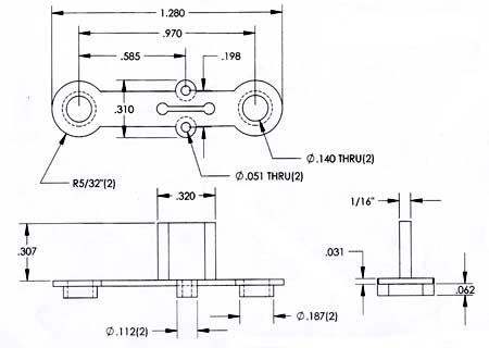 Power Transistor Mounts PTI-2 for TO-66 Dimensions