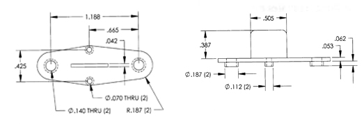 Power Transistor Mounts PTI-H for TO-3 Dimensions
