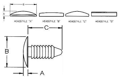 Ratchet Fasteners Dimensions