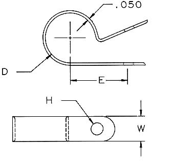 Standard Cable Clamps Dimensions