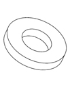 Large Nylon Washers - DIN 34816