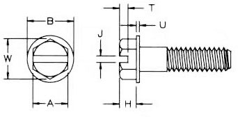 Slotted Washer Hex Bolt Dimensions